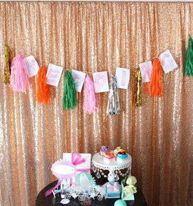 Rose Golden Photography Sequin Fabric Backdrop for Party Prom