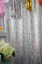 Load image into Gallery viewer, Silver Photography Sequin Fabric Backdrop for Party Prom-ubackdrop