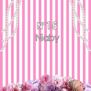 Garden Roses with Pearl Pink and White Stripes Backdrop Chanel Themed Birthday Backdrop Sweet 16 Birthday backdrop-ubackdrop
