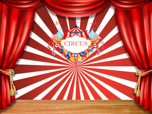 Carnival Backdrop  Circus Party Decoration Backdrop Birthday Backdrop Baby Shower - [product_tag] - ubackdrop