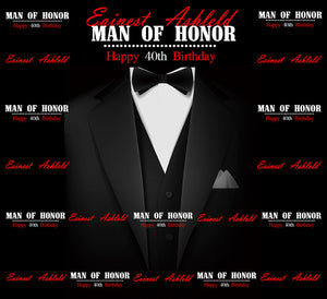 40th Birthday Ideas for Men/Husband, Man Of Honor Backdrop-[product_tag]-ubackdrop