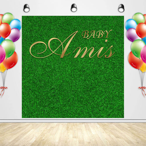 Grass Backdrop Wall Baby Shower Wedding Party Photoshoot Green Grass Backdrop-[product_tag]-ubackdrop