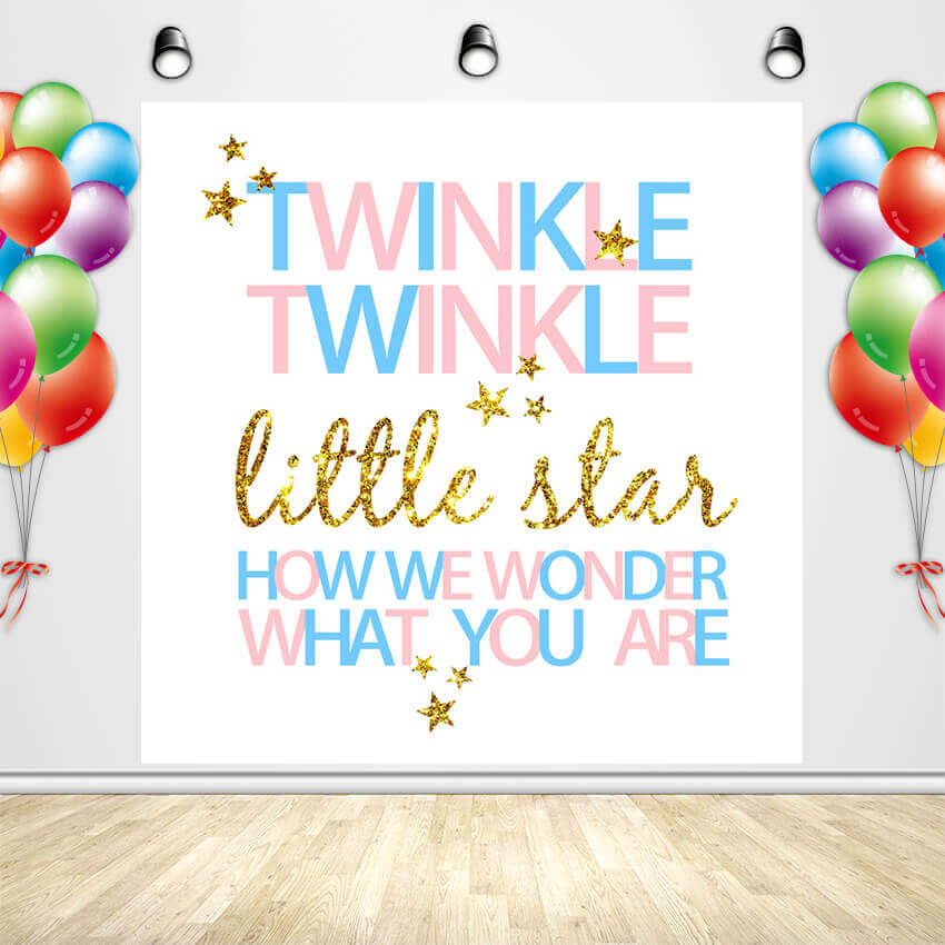 Twinkle Twinkle Little Star Backdrop Baby Shower Backdrop Ideas