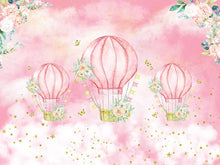 Load image into Gallery viewer, Hot Air Balloon Backdrop - Kids' Birthday Backdrop Ideas