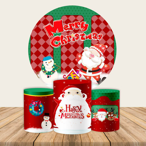 Christmas Backdrop Circle Backdrop Christmas Photo Backdrop Ideas-Round Backdrop-[product_tag]-ubackdrop