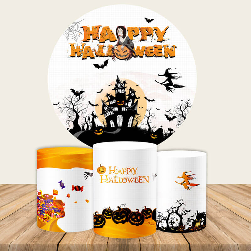 Halloween Backdrop Circle Backdrop Halloween Photo Backdrop Ideas-Round Backdrop-[product_tag]-ubackdrop
