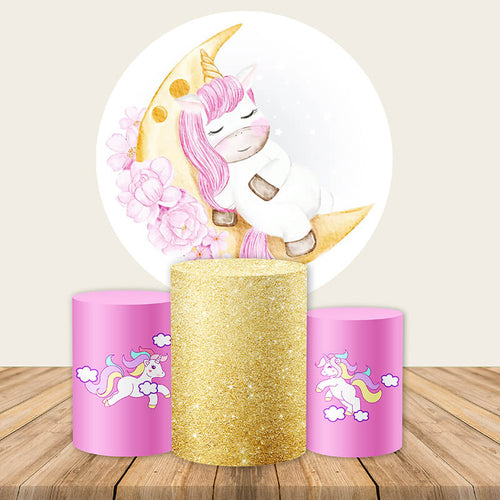 Unicorn Backdrop Circle Unicorn Backdrop Unicorn Birthday Party Backdrop Ideas-ubackdrop