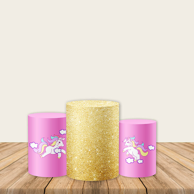 Unicorn Utility Pedestal Covers Plinth Cover Printed Fabric Pedestal Cover-Cylinder/Round Covers-[product_tag]-ubackdrop