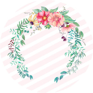 Floral Wedding Round Backdrop Circle Wedding Backdrop Ideas Baby Shower Decoration