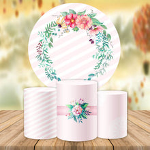 Load image into Gallery viewer, Floral Wedding Round Backdrop Circle Wedding Backdrop Ideas Baby Shower Decoration