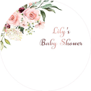 Floral Baby Shower Round Backdrop Circle Wedding Backdrop Decoration Ideas-ubackdrop