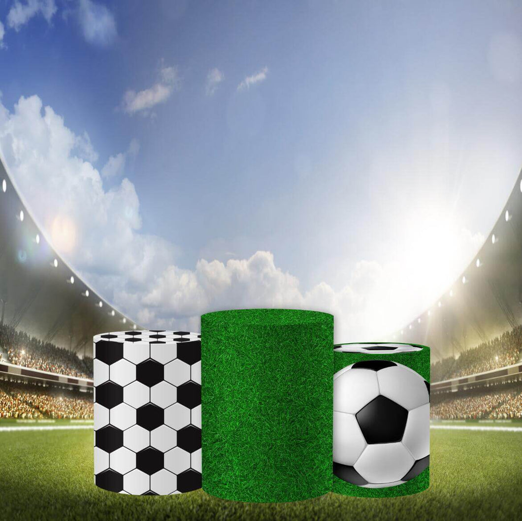 Football Pedestal Covers Plinth Cover Printed Fabric Pedestal Cover-Cylinder/Round Covers-[product_tag]-ubackdrop