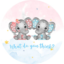 Load image into Gallery viewer, Elephant Baby Shower Round Backdrop Elephant Themed Baby Shower Party Decorations