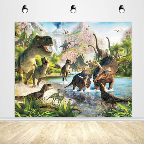 Dinosaur Themed Party Backdrop Dinosaurs Birthday Party Backdrop Ideas-ubackdrop
