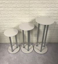 Load image into Gallery viewer, Display Cylinder Pedestals, Assembly Party Round Plinths Custom Size Available