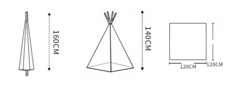 Kids Teepee Tent for Party Decoration and Room Decoration