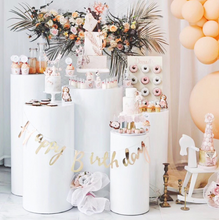 Load image into Gallery viewer, Metal Cylinder Pillar Stand Rack For Wedding Party Decoration - [product_tag] - ubackdrop