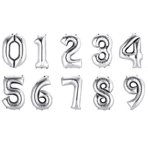 "16"" Gold/Silver Number Balloons Birthday Party Decor - [product_tag] - ubackdrop"
