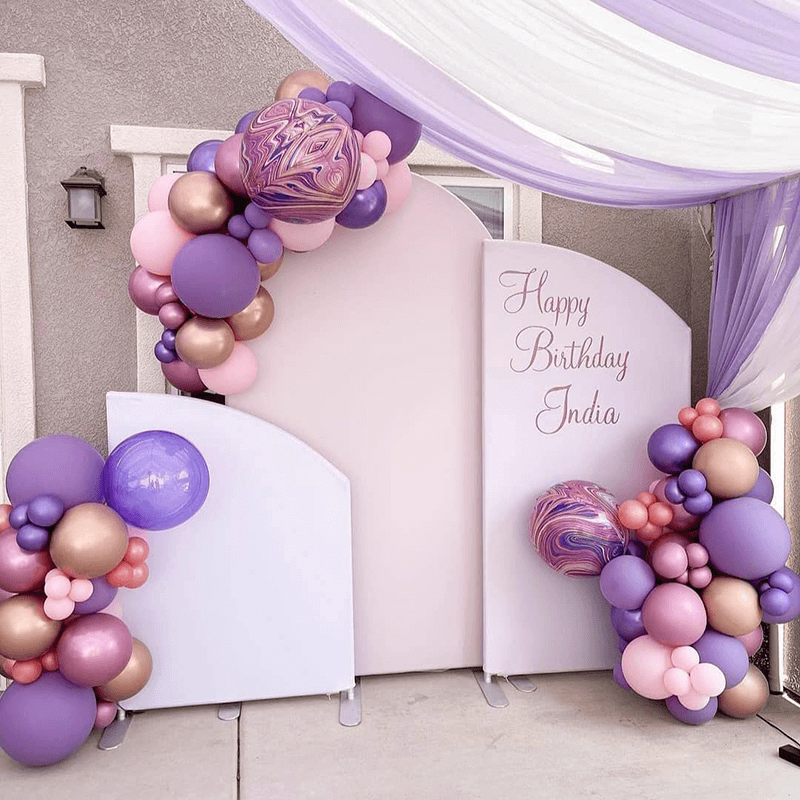 Pink Theme Birthday Party Decoration Chiara Backdrop Arched Wall Covers-ubackdrop