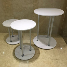 Load image into Gallery viewer, Round Display Cylinder Pedestals, White Party Round Plinths Custom Size Available-[product_tag]-ubackdrop