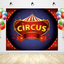 Load image into Gallery viewer, Circus Backdrop Carnival Birthday Themed Photo Backdrop-[product_tag]-ubackdrop