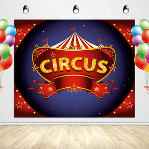 Circus Backdrop Carnival Birthday Themed Photo Backdrop-[product_tag]-ubackdrop