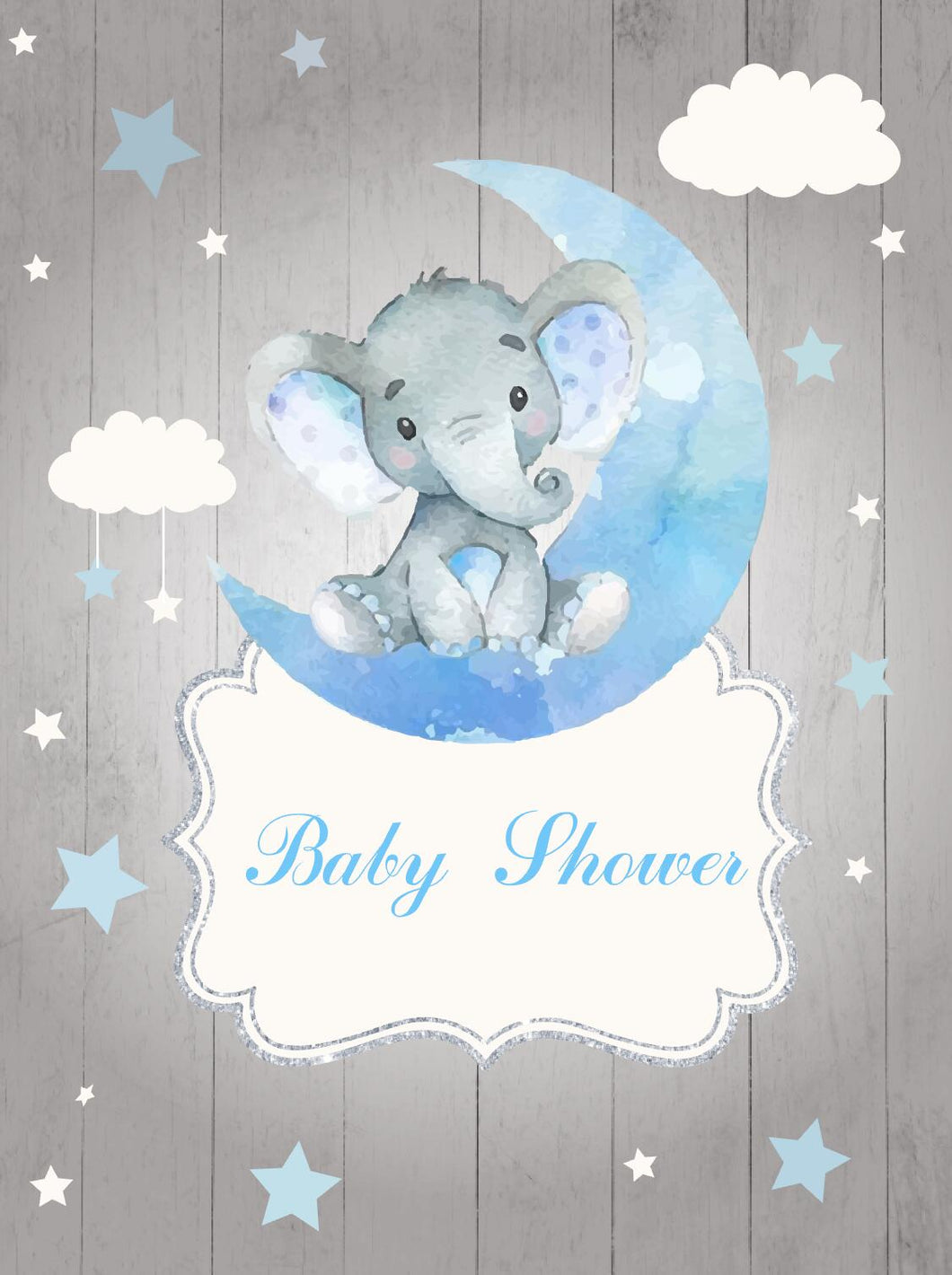 Elephant Boy Table Backdrop Moon& Clouds&Stars Kids Birthday - [product_tag] - ubackdrop