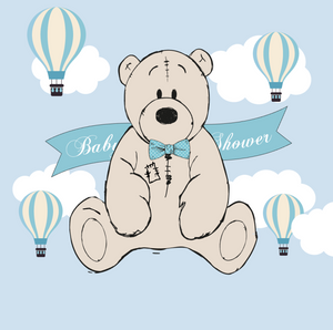 Teddy Bear Backdrop for Baby Shower Its A Boy Teddy Bear Backdrop-[product_tag]-ubackdrop
