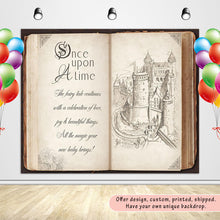 Load image into Gallery viewer, Once Upon a Time Story Book Backdrop Storybook Party Backdrop Banner-[product_tag]-ubackdrop