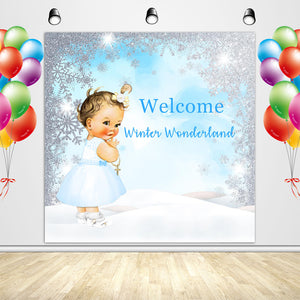Winter ONEderland Backdrop Newborn Baby's 1st Birthday Party Banner - Designed, Printed and Shipped-[product_tag]-ubackdrop