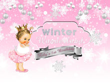 Load image into Gallery viewer, Winter ONEderland Backdrop First Birthday Party Decor - Designed, Printed and Shipped-[product_tag]-ubackdrop