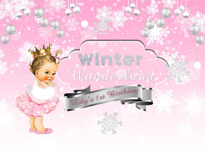 Winter ONEderland Backdrop First Birthday Party Decor - Designed, Printed and Shipped-[product_tag]-ubackdrop