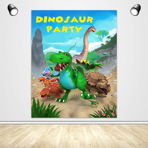 Dinosaurs Birthday Party Backdrop Dinosaur Theme Party Decoration Banner - Designed, Printed & Shipped-ubackdrop