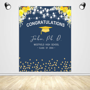 Custom Backdrop for Graduation Photos - Designed, Printed & Shipped-ubackdrop