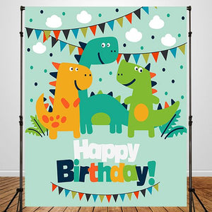 Dinosaur Invitation  Custom Backdrop for Birthday - [product_tag] - ubackdrop