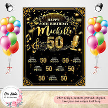 Load image into Gallery viewer, Golden Birthday Theme Custom Backdrop - [product_tag] - ubackdrop