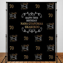 Load image into Gallery viewer, 40-70th Birthday Theme Party Backdrop