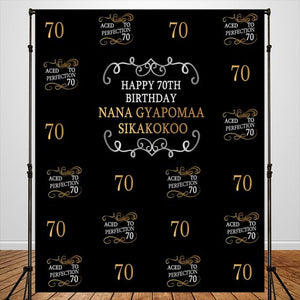 40-70th Birthday Theme Party Backdrop