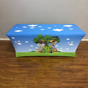 Custom Stretch Table Covers for Birthday&Baby Shower&Wedding&Any Other Party - Designed, Printed & Shipped!-ubackdrop