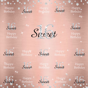 Sweet 16 Party Ideas At Home 16th Birthday Backdrop For A Girl-[product_tag]-ubackdrop