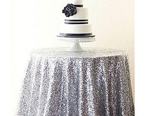 Rectangular&Round Silver Sequin Tablecloth Sparkly Tablecloth Sequin Tablecloth-ubackdrop