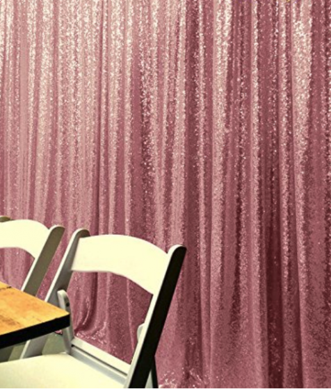 Pink Photography Sequin Fabric Backdrop for Party Prom
