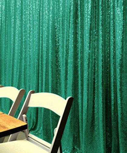 Green Photography Sequin Fabric Backdrop for Party Prom - [product_tag] - ubackdrop
