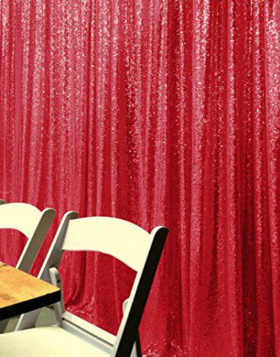 Red Photography Sequin Fabric Backdrop for Party Prom - [product_tag] - ubackdrop