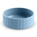 DIAMOND CERAMIC STONEWARE BLUE PET BOWL - Abode Homewares