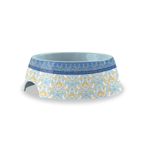 Flower Fields Small Pet Bowl Blue (Set of 2)