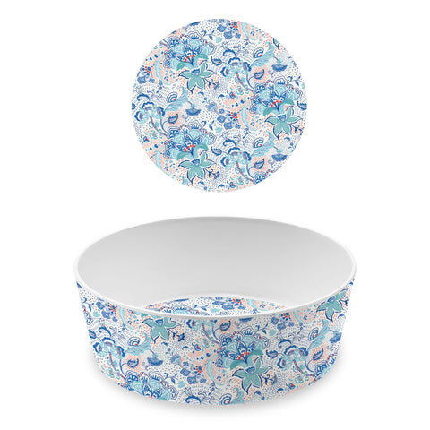 Flower Fields Large Pet Bowl Violet (Set of 2)