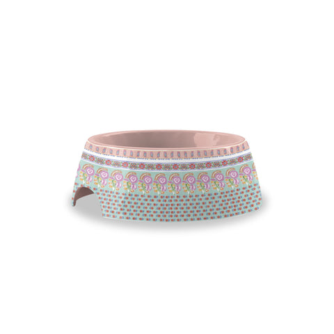 Flower Fields Extra Small Pet Bowl Pink (Set of 2)
