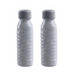 Swig Water Bottle Grey Marble, 20 oz., Premium Plastic, Set of 2