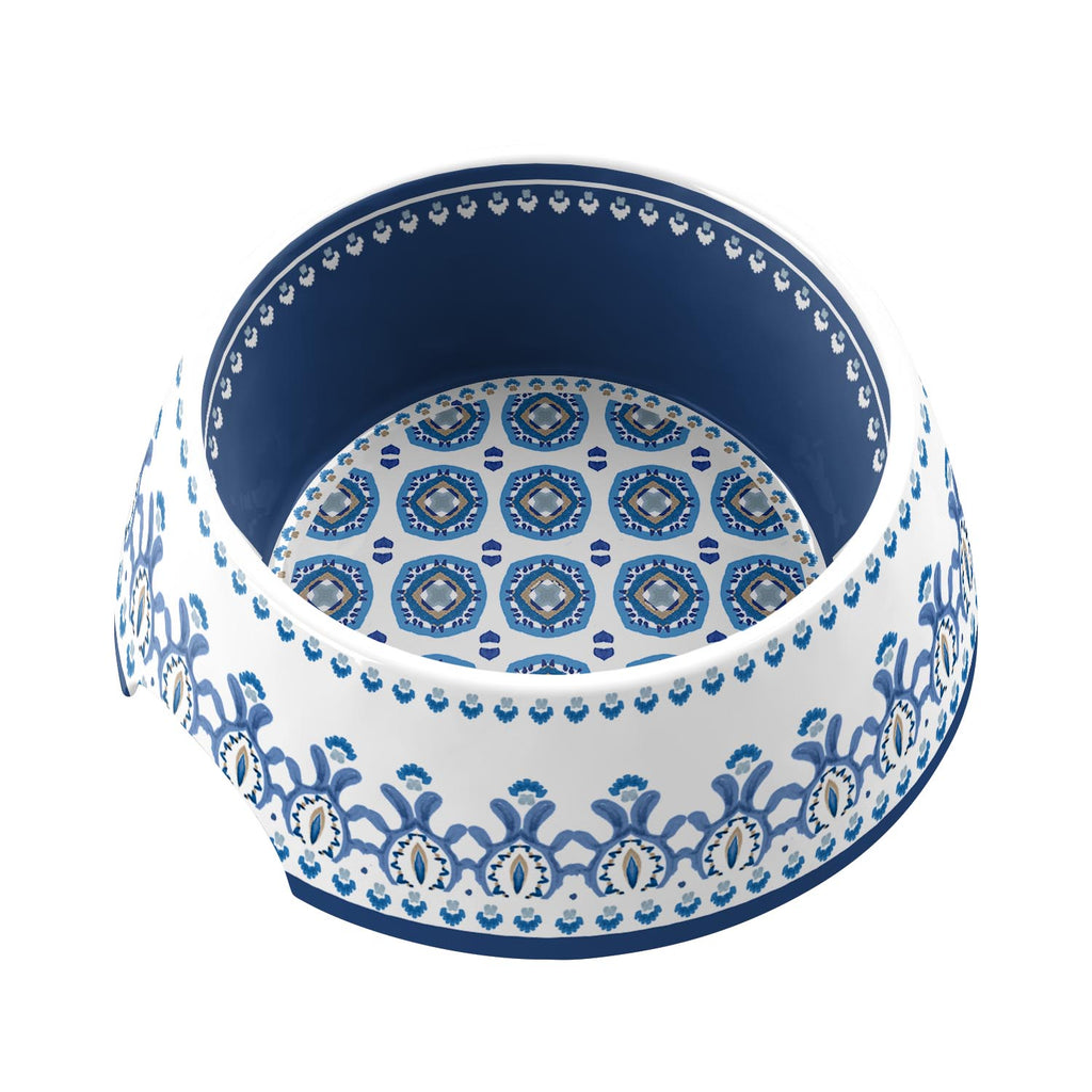 Moroccan Medium Pet Bowl Indigo (Set of 2)